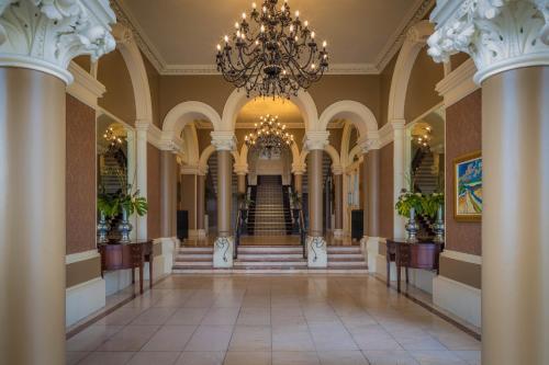 The lobby or reception area at Royal Marine Hotel