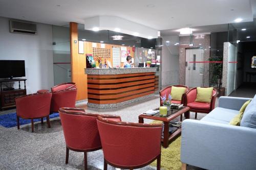 Salon ou bar de l'établissement Residencial Centro Comercial Avenida Bragashopping
