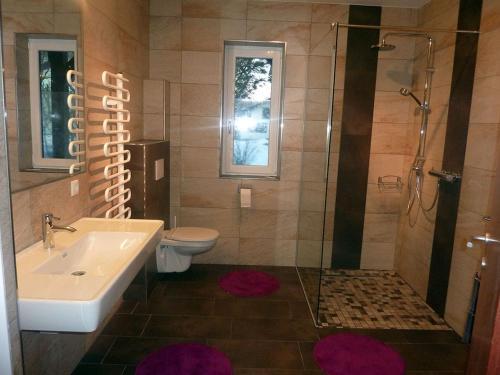 Koupelna v ubytování Appartement-Robin