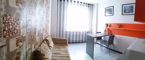 Гостиная зона в Apartments at Bulvar Pobedy