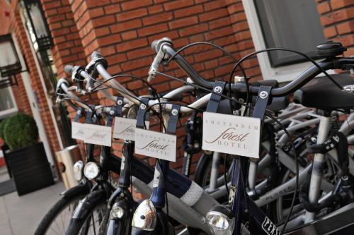 Het fitnesscentrum en/of fitnessfaciliteiten van Amsterdam Forest Hotel