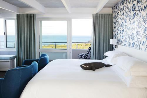 A room at One Marine Drive Boutique Hotel
