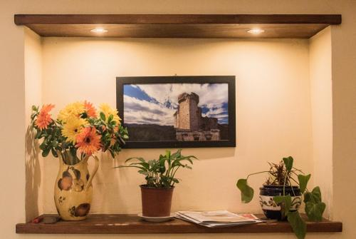 The lobby or reception area at Hotel Florenz