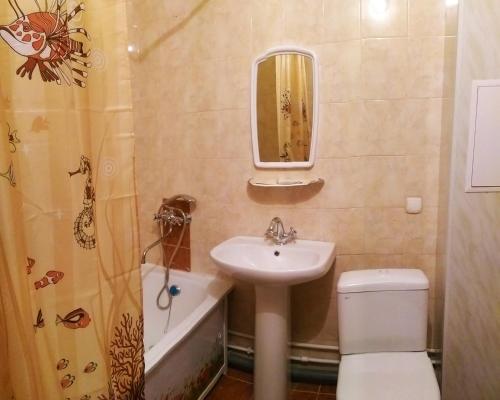 Ванная комната в Апартаменты с видом на Озеро