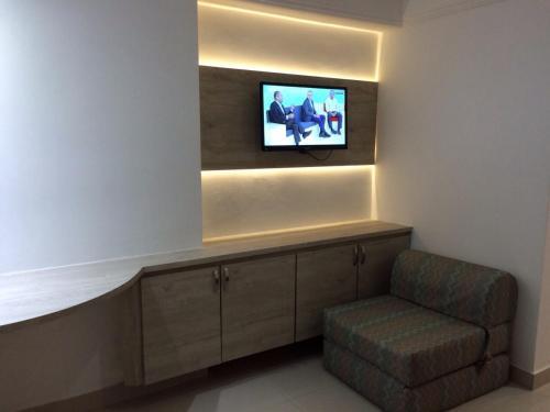The lounge or bar area at Apartamento Boa Viagem