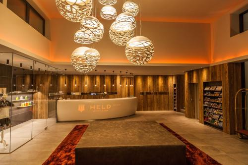 The lobby or reception area at Sport- und Wellnesshotel Held 4 Sterne Superior