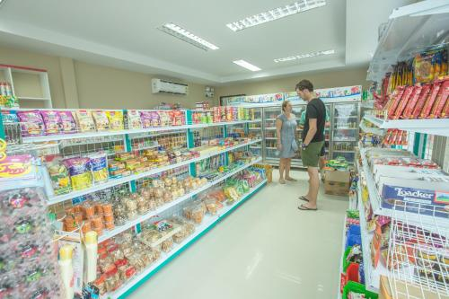 A supermarket or other shops at the resort or nearby