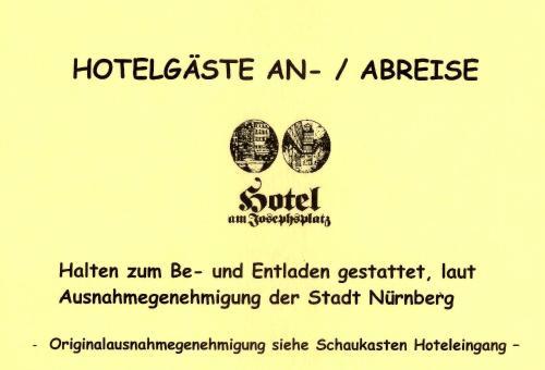 Ein Zertifikat, Auszeichnung, Logo oder anderes Dokument, das in der Unterkunft Hotel Am Josephsplatz ausgestellt ist