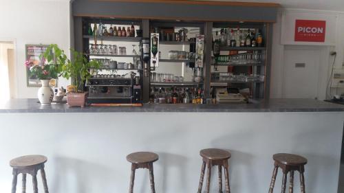 The lounge or bar area at Relais de la Mothe