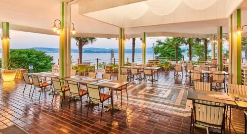 A restaurant or other place to eat at Apartments Kanegra Plava Laguna