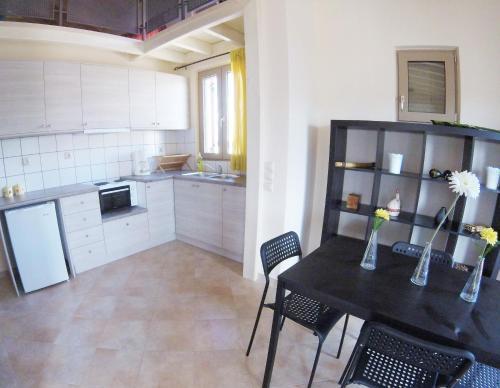 Η κουζίνα ή μικρή κουζίνα στο Arapakis Apartment