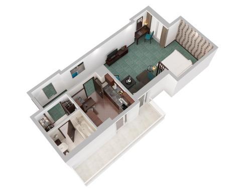 The floor plan of Flora Creek Deluxe Hotel Apartments