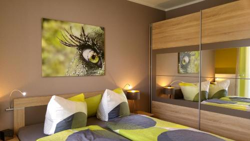 A bed or beds in a room at gapart - Apartments mit Küche
