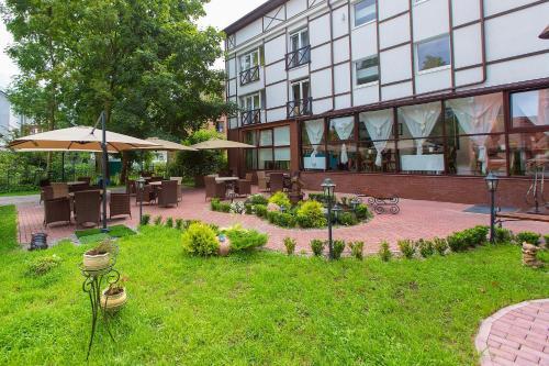 Патио или другая зона на открытом воздухе в Гостиница Геркулес
