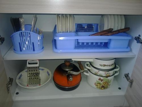 Кухня или мини-кухня в Apartment Pleskov Ganzeisky