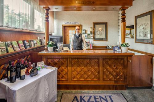 Lounge oder Bar in der Unterkunft Akzent Hotel Frankenbrunnen