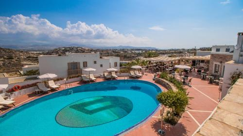 A view of the pool at Naxos Magic Village or nearby