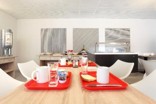 Breakfast options available to guests at Odalys City Marseille Le Dôme