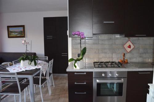 A kitchen or kitchenette at Le Sorgenti