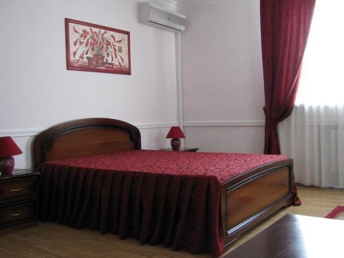 Кровать или кровати в номере Гостиничный комплекс Трек