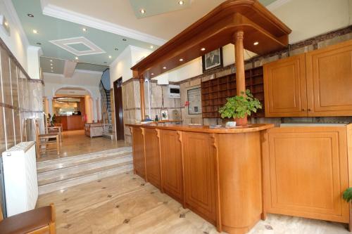 The lobby or reception area at Hotel Sevdali