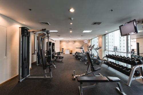 The fitness center and/or fitness facilities at Adelphi Suites Bangkok