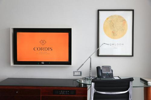 De lobby of receptie bij Cordis, Hong Kong