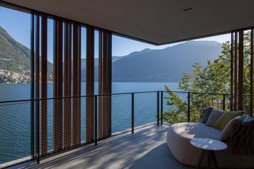 Ein Balkon oder eine Terrasse in der Unterkunft Il Sereno Lago di Como