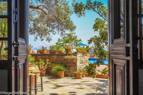 A balcony or terrace at Villa Galini