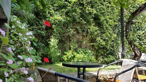 A porch or other outdoor area at La Casona