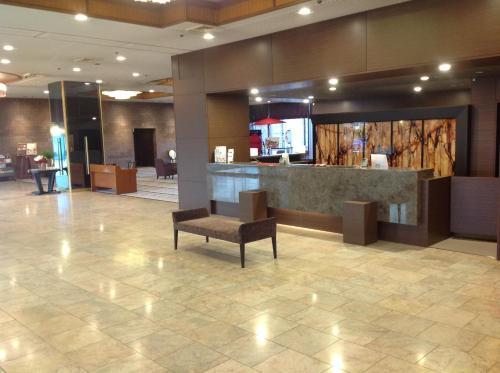 The lobby or reception area at Okayama Plaza Hotel