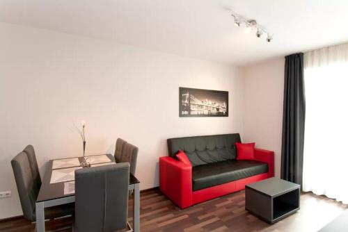 A seating area at Sofia Top Lux Apartment