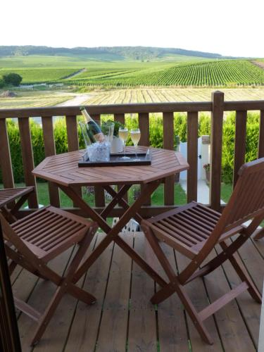A porch or other outdoor area at Clos du Mont Rouge