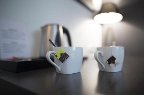 Coffee and tea-making facilities at Hostal Cabo Mayor