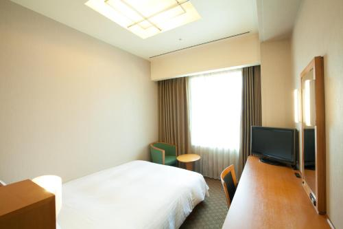 A television and/or entertainment centre at KKR Hotel Umeda