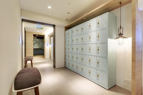 The lobby or reception area at Taiwan Youth Hostel & Capsule Hotel