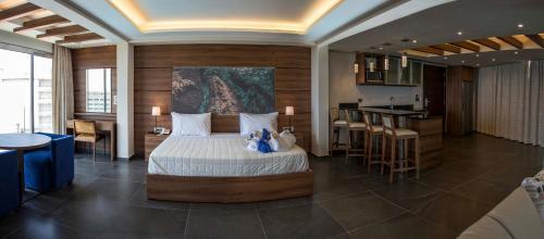 The lounge or bar area at San Stephano Resort