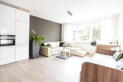 Posezení v ubytování Sunny Apartment Ostrava Center