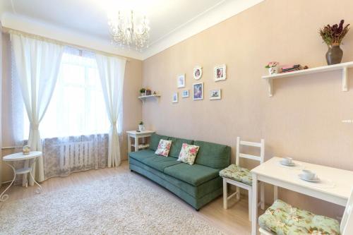 Гостиная зона в Miracle Apartment Old Arbat