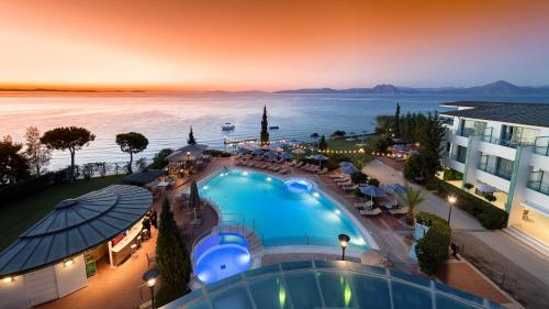 A view of the pool at Poseidon Palace or nearby