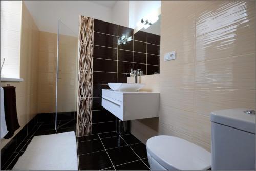 Koupelna v ubytování Vila Marica