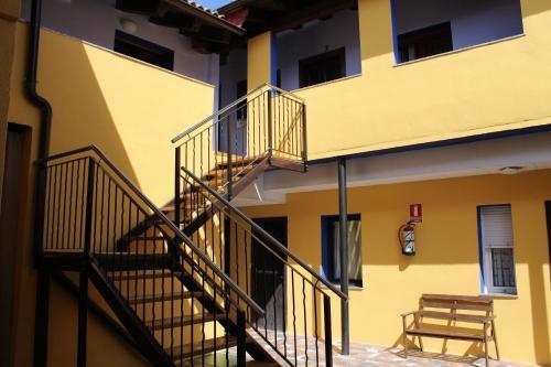 Un balcón o terraza de Pensión Media Luna