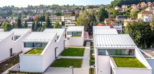 Letecký snímek ubytování Apartmány Eden - Rezidence