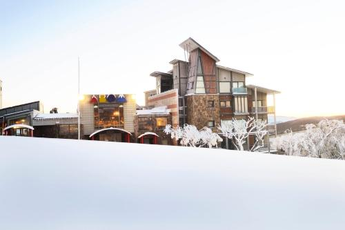 Abom Hotel during the winter