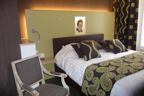 Кровать или кровати в номере Hotel Het Gheestelic Hof