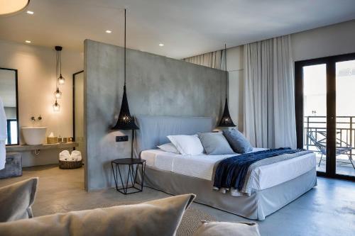 Letto o letti in una camera di Kefalonia Grand