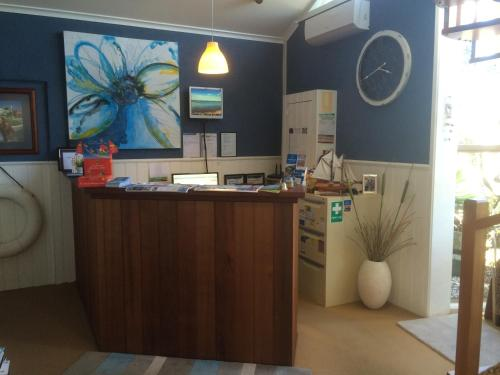 The lobby or reception area at Portarlington Beach Motel