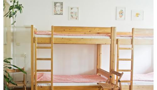 Łóżko lub łóżka piętrowe w pokoju w obiekcie Activity Hostel