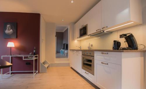 Küche/Küchenzeile in der Unterkunft Gästehaus Vanille & Chocolat