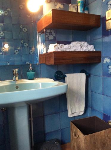 A bathroom at Quinta do Fôjo